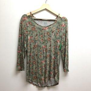 Westport floral print top M cold shoulder